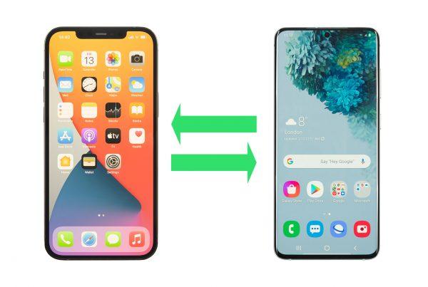 Transfert de fichiers entre iphone et android